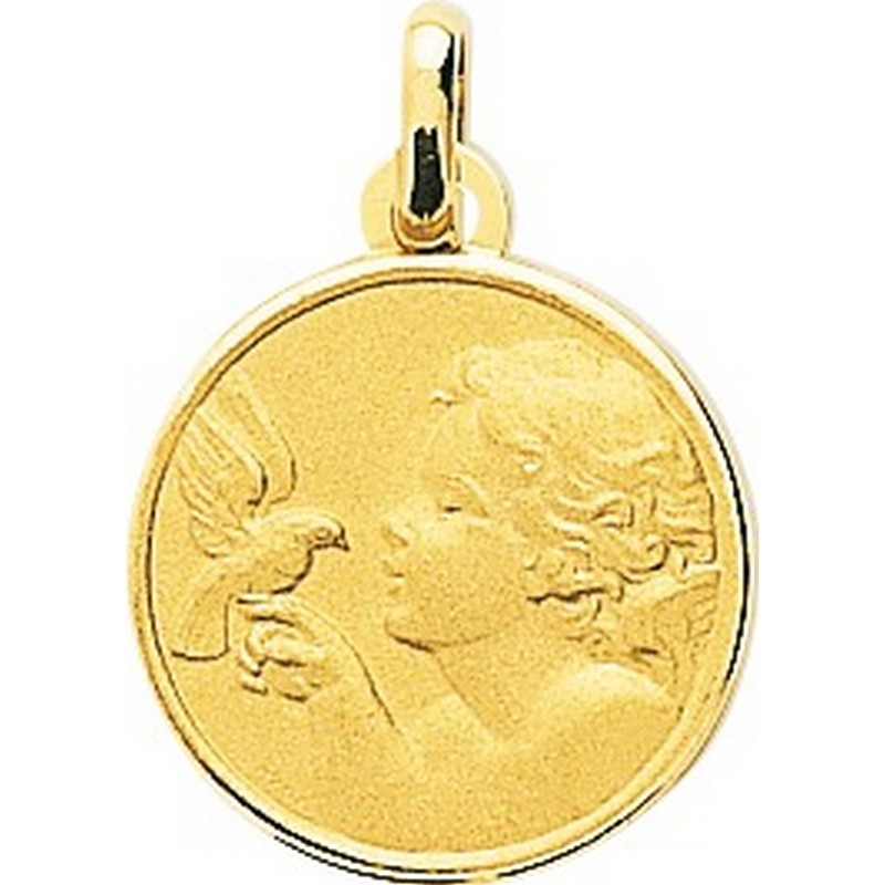 Médaille Ange or 18k