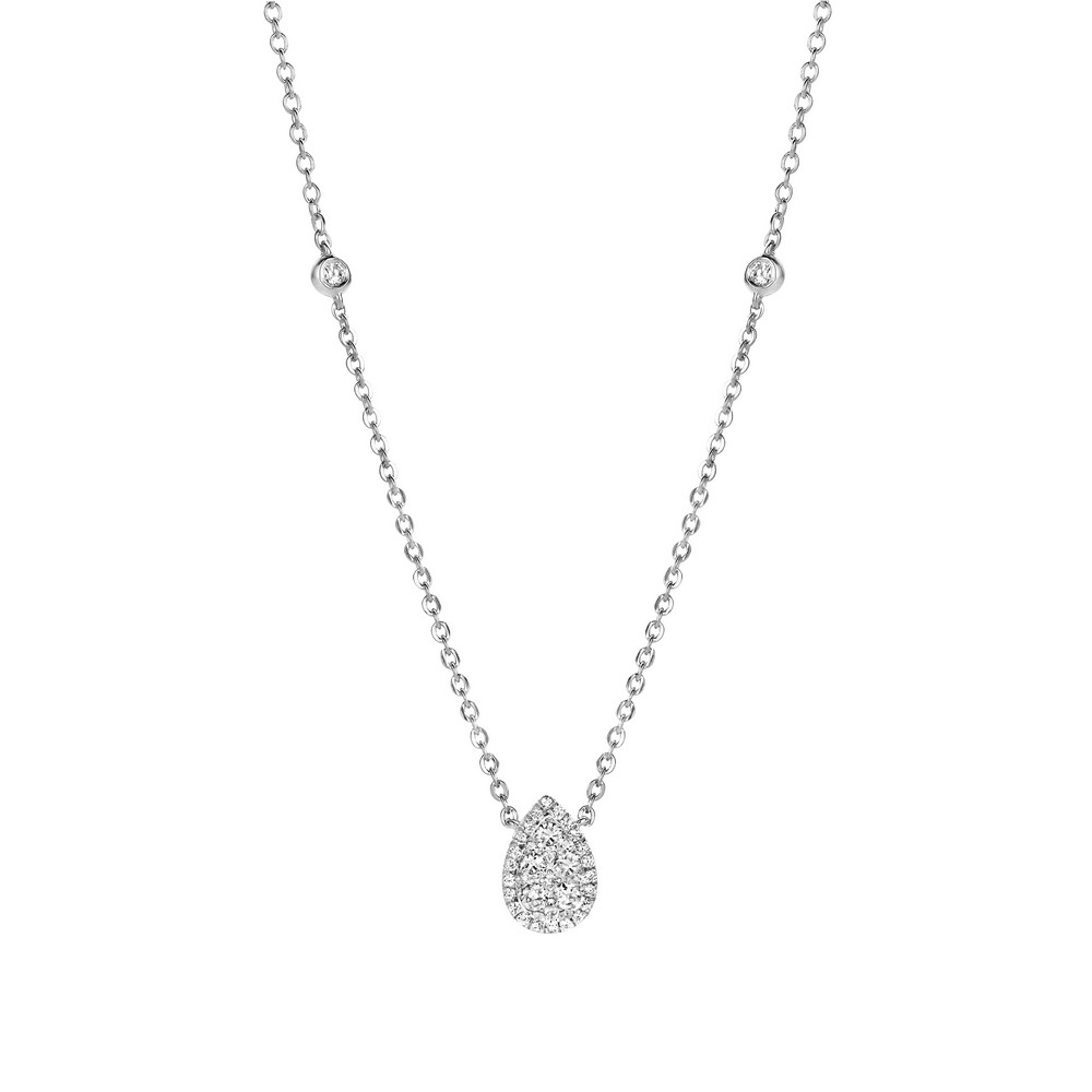 Collier Poire diamants